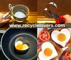 DIY Coração los forma de ovo usando UMA lata de atum! - Amantes Reciclar