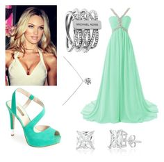 """prom dress #3"" by alexfred ❤ liked on Polyvore featuring GUESS, Michael Kors and Tiffany & Co."