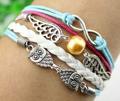 wings.infinity.The owl.Wax Cords  and by themagicbracelet on Etsy, $4.99