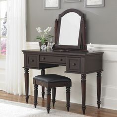 Bermuda Vanity And Bench Espresso Finish Home Styles Furniture Vanity Tables & Sets Bathro