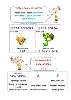 TREBALLEM LA S/SS/C/Ç/Z     Abans has de saber diferenciar     entre el so D'ESSA SONORA i              ESSA SORDA.       ... First Day Of School Activities, Writing Activities, Catalan Language, Early Reading, Anti Social, Valencia, Classroom, Teacher, Learning