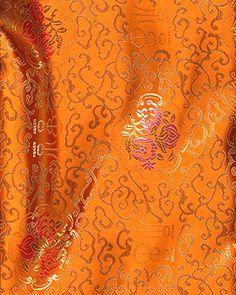 Chinese Brocade Fabric, Heavenly Gate Orange - by the yard Jaune Orange, Green And Orange, Orange Color, Orange Zest, Burnt Orange, Gold Aesthetic, Orange Aesthetic, Scenery Photography, Orange You Glad
