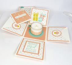 Geschenke für Frauen - Explosionsbox Magic Box zum Geburtstag - ein Designerstück von Stempelitis bei DaWanda