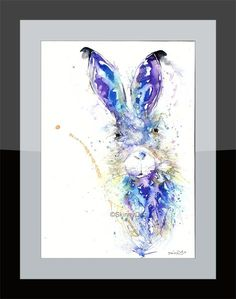 Printed to a high standard using the latest Epson Ink technology that's made to last. Epson Ink, Hare, Watercolor Tattoo, Fine Art Prints, Bunny, Art Prints, Rabbits, Temp Tattoo