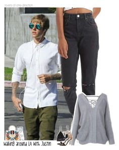 """""""Walking around LA with Justin"""" by lovers-of-one-direction ❤ liked on Polyvore featuring Topshop, Humble Chic, Gianvito Rossi, Zero Gravity, Gucci, Ray-Ban, JustinBieber, justinbieberoutfits, loversofonedirectionoutfits and without1D"""