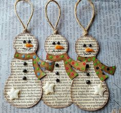 Handmade Christmas gifts are so considerably more meaningful—not to say economical! christmas gifts for boyfriend Christmas Ornament Crafts, Snowman Crafts, Christmas Gift Tags, Christmas Crafts For Kids, Homemade Christmas, Book Crafts, Christmas Projects, Holiday Crafts, Christmas Holidays
