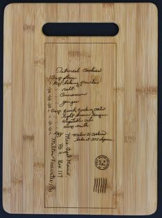 Recipe scanned from Mom's or Grandma's handwriting  by 3DCarving, $30.00 - good christmas gift idea!!!
