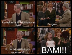 I have remembered this scene since I saw it and Penguin has remained my answer as well ever since.