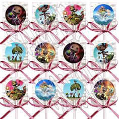 Little Big Planet Kid's Video Game Lollipops by PartyOverHere1, $9.99 Lollipop Party, Little Big Planet, Planet For Kids, Video Games For Kids, Goodie Bags, Ribbon Bows, Cupcake Toppers, Party Supplies, Party Favors