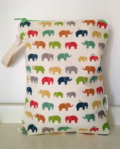 Organic Elephant wet bag by LilTotWonder on Etsy, $28.00