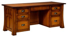 The Bridgefort Mission Executive Desk comes in three different depths.