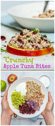 These Crunchy Tuna Apple Bites are the Perfect Clean Eating Snack! - Clean Food Crush