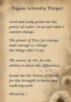 ✯ Pagan Serenity Prayer ✯ by Blad Wiccan Spell Book, Wiccan Spells, Wiccan Beliefs, Wiccan Magic, Wiccan Symbols, Spell Books, Wiccan Witch, Norse Pagan, Pagan Gods