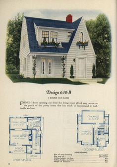 Book of homes - Design Sims House Plans, Small House Plans, House Floor Plans, Cottage Plan, Cottage Homes, Sims Building, Building A House, Vintage House Plans, Sims 4 Houses