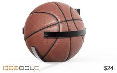 Peach Basket by Jason Luk | Too many balls - no where to put them. $24. #Basketball #football #ballholder.