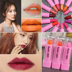 COLOR SUNNY Makeup 15 Different Colors Sexy Lip Gloss Long Lasting Lip Makeup Waterproof Baby Lips Glitter Matter Lipstick #Affiliate