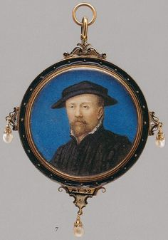 Miniature, thought to be Arnold Franz by an imitator of Hans Holbein, c.1600 (Metropolitan Museum of Art, New Y       http://www.elizabethan-portraits.com/TBArnoldFranz.jpg