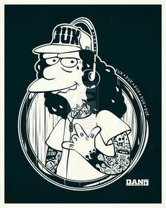 Otto Mann Tattoo by DanielNeeta.deviantart.com on @deviantART #Simpsons