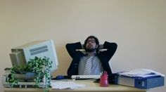 Office Work Employee Thinking, Finds Right Answer Stock Footage Clip