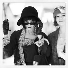 Miss Fisher and Dot at the beach (from Miss Fisher's Murder Mysteries books and TV Series)