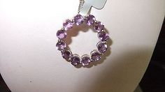 LIMITED EDITION W/CERT ZAMBIAN AMETHYST LIFES CIRCLE NECKLACE