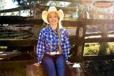 Blue and white check ladies western shirt. Ladies Western Shirts, Ladies Shirts, Blue Check, Check Shirt, Western Wear, Cowboy Hats, Westerns, Blue And White, Lady