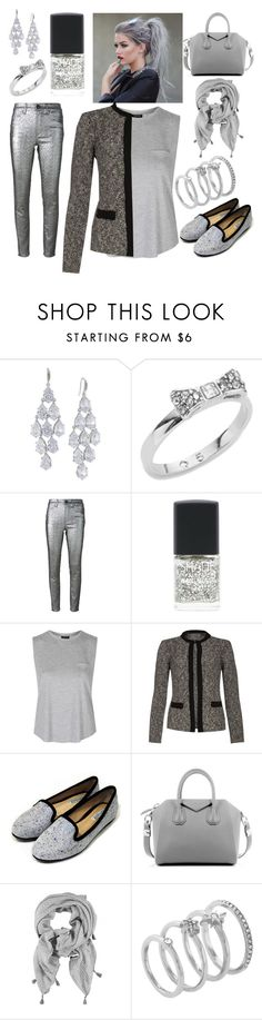 """""""Silver"""" by charleymalfoy ❤ liked on Polyvore featuring Carolee, Kate Spade, Isabel Marant, Topshop, Givenchy and Vince Camuto"""