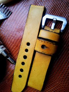.: Yellow Dub Straps Army Watches, Bell Ross, Zeppelin, Yellow, Craft, Handmade, Accessories, Hand Made, Creative Crafts