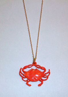 Vintage Crab Necklace DEADSTOCK by SHOPHULLABALOO on Etsy