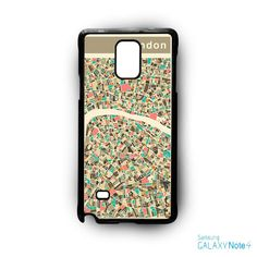 London Map AR for Samsung Galaxy Note 2/3/4/5/Edge phonecase