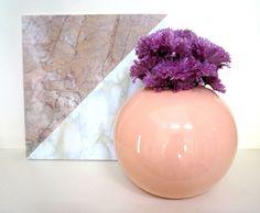 An '80s-style floral arrangement