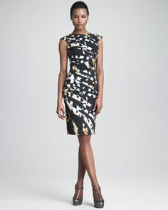 Blumarine Printed Origami Dress