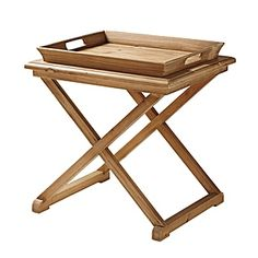 Serena & Lily Brighton Pine Table; perfect for the den/guest room as can be folded & put away when using room as office