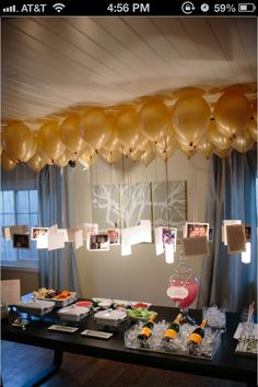Balloons with pictures attached. So cool!