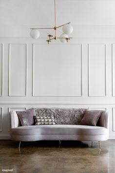 Modern pastel living room decor premium image by Felix # Pastel Living Room, My Living Room, Living Room Decor, Cozy Living, Living Room Panelling, Modern Wall Paneling, New Interior Design, European Home Decor, Easy Home Decor