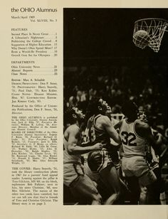 "The Ohio Alumnus, March-April 1969. Men's basketball. "" ...Second Place Is Never Great..."" :: Ohio University Archives"