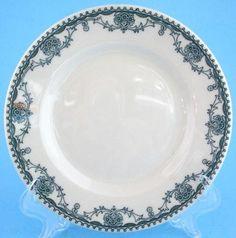 "Mayer Marion Horn Hardart Restaurant Ware 6 3 4"" Plate Green Floral 2 | eBay"