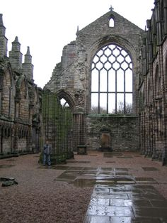 Holyrood Abbey  (Photo Credit to Jenelle Schmidt 2004)  Where I drew some of my inspiration for the ancient castle at the end of Stone Curse... though obviously this is in a far worse state of decay, as it has no roof!