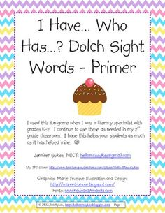 Need a fun, engaging game to increase fluency with high frequency sight words