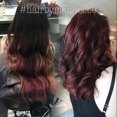 This Corrective color took us 7 hours but it was worth every second. #healthyhair #redhair #correctivecolor #redken #flashlift #shadeseq #behindthechair #modernsalon #hairbymandeeee #cilantrohairspa #lovemyjob #darktored #curlyhair #precisioncut