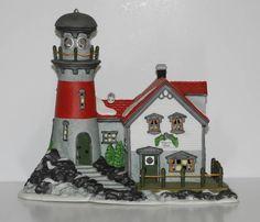 DEPT 56 New England Village Series PIGEONHEAD LIGHTHOUSE #56537 Retired MIB #eBay