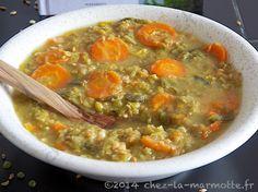 Soupe de légumes, pois cassés et petit épeautre
