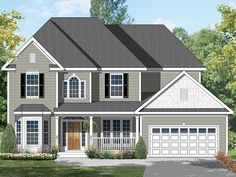 ePlans Colonial House Plan – Eye Catching Colonial – 3025 Square Feet and 4 Bedrooms from ePlans – House Plan Code HWEPL7