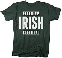 Shirts By Sarah Men's Funny St. Patrick's Day T-Shirt Original Irish Hooligan Shirts