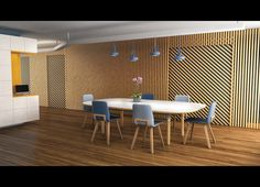 B. Romain Visualisation Architecturale HEAJ 2017 Visualisation, Conference Room, 3d, Architecture, Table, Furniture, Home Decor, Roman, Arquitetura