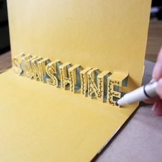 tutorial and template to create a 3d card that reminds your loved ones why the sun shines