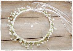 Ein #Haarkranz für die #Braut mit #Schleierkraut von #Kranzverliebt. 33,00€ http://de.dawanda.com/product/80683527-Haarkranz-Brautkranz-Hochzeit-Braut-51