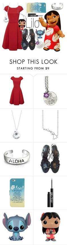 """""""Lilo~ DisneyBound"""" by basic-disney ❤ liked on Polyvore featuring Disney, Phase Eight, Bridge Jewelry, Bling Jewelry, Burberry and Urban Decay"""