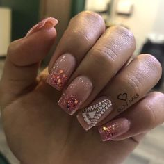 Diy Nails Manicure, Glow Nails, Manicures, Dead Makeup, Beauty Spa, Glitter, Pedicure, Acrylic Nails, Nail Designs