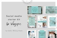 Blogger's social media starter kit, social media kit, blogging tools, blogging resources *affiliate Link**